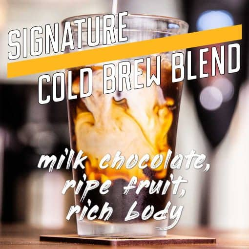 signature cold brew blend coffee